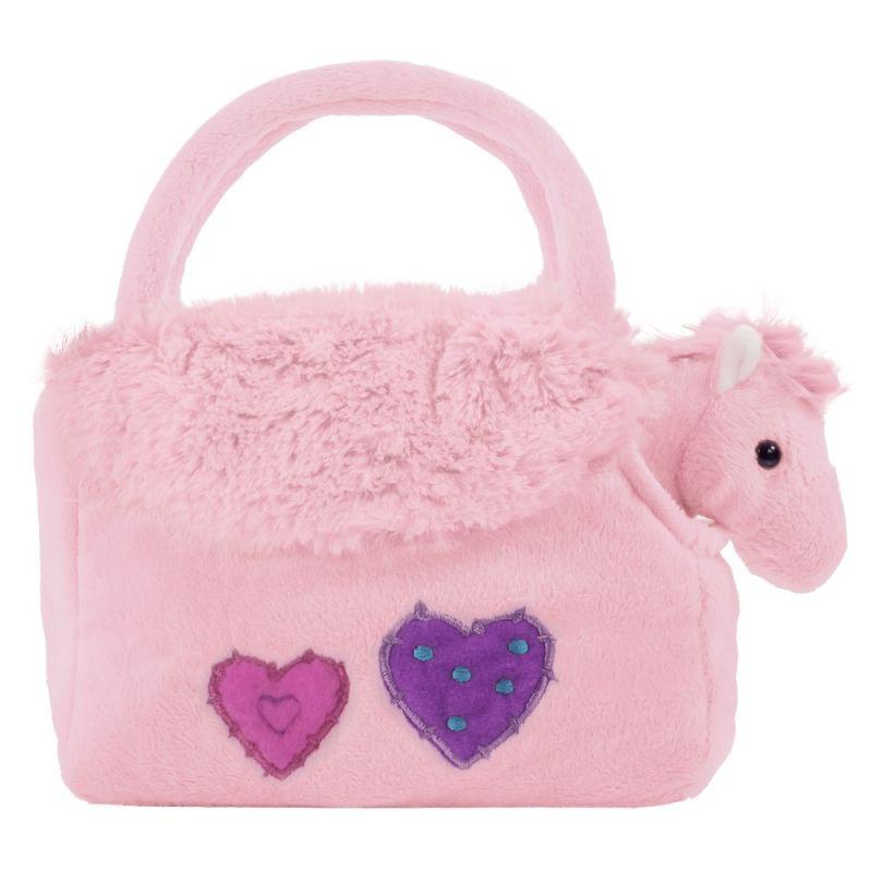 BEPPE - plyšová kabelka růžová s koníčkem uvnitř 13193