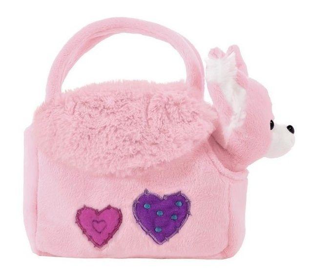 BEPPE - plyšová kabelka růžová s pejskem uvnitř 12823