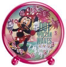 Elektronický budík - Minnie Mouse - červený