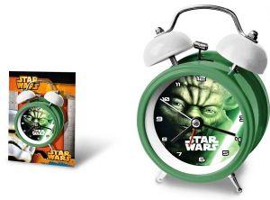 Elektronický budík se zvonečky - Star Wars - Yoda   8 cm  zelený