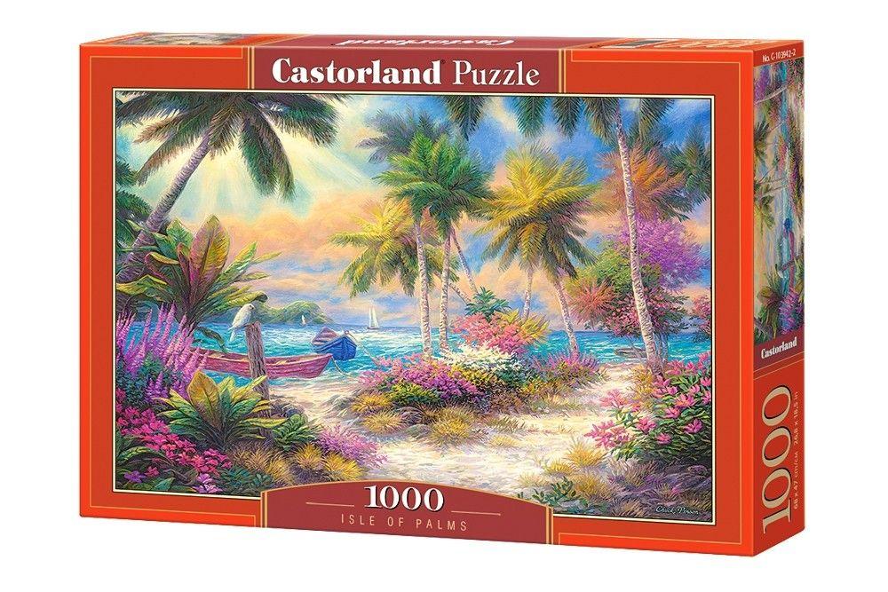 Puzzle Castorland 1000 dílků - Palmový ostrov 103942