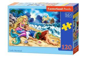 Puzzle Castorland 120 dílků - Malá mořská víla  13388
