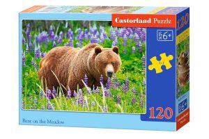 Puzzle Castorland 120 dílků - Medvěd na louce   13425