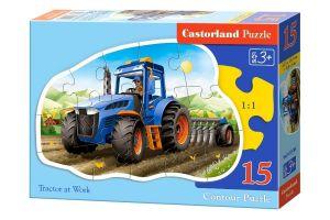 Puzzle Castorland 15 dílků MAXI - Traktor na poli   015184