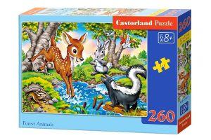 Puzzle Castorland 260 dílků - Lesní zvířátka  27446