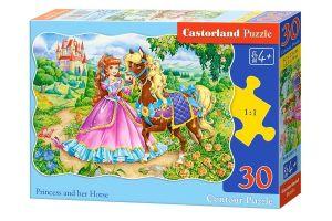 Puzzle Castorland  30 dílků  - Princezna a její kůň     03617