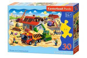 Puzzle Castorland  30 dílků  -  Stavba domu   03686