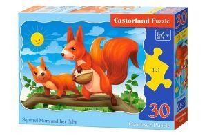 Puzzle Castorland  30 dílků  - Veverky    03693