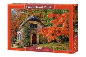 Puzzle Castorland 500 dílků -  Gotický dům na podzim  52806