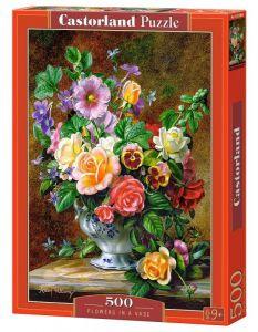 Puzzle Castorland 500 dílků -  Květiny ve váze 52868