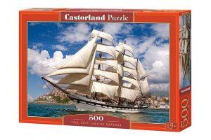 Puzzle Castorland 500 dílků -  Plachetnice opouštějící přístav  52851