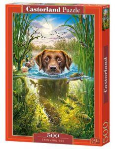Puzzle Castorland 500 dílků -  Plavající pes  52882