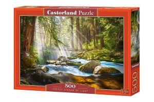 Puzzle Castorland 500 dílků -  Prosluněný lesní potok 52875