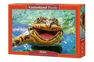Puzzle Castorland 500 dílků - Smějící se žába 52813