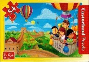 puzzle Castorland 54 dílků mini - cestování - balónem nad Velkou čínskou zdí