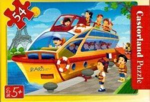 puzzle Castorland 54 dílků mini - cestování - jachtou  v Paříži