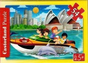 puzzle Castorland 54 dílků mini - cestování - motorovým člunem v Sydney