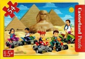 puzzle Castorland 54 dílků mini - cestování - na čtyřkolkách v Egyptě