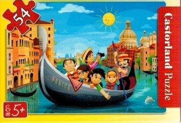 puzzle Castorland 54 dílků mini - cestování - v gondole v Benátkách