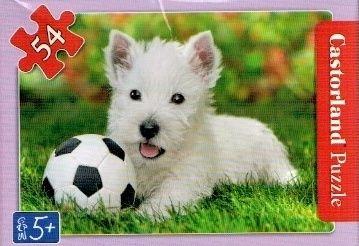 puzzle Castorland 54 dílků mini - kočky a pejsci - bílý pejsek Teriér