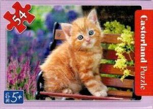 puzzle Castorland 54 dílků mini - kočky a pejsci - rezavá kočička