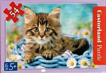 puzzle Castorland 54 dílků mini - kočky a pejsci - žíhaná kočička