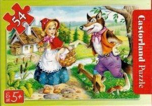 puzzle Castorland 54 dílků mini - pohádky - Červená Karkulka a
