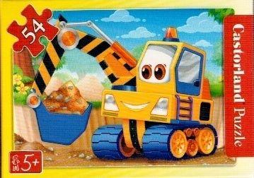 puzzle Castorland 54 dílků mini - pracovní vozidla - bagr