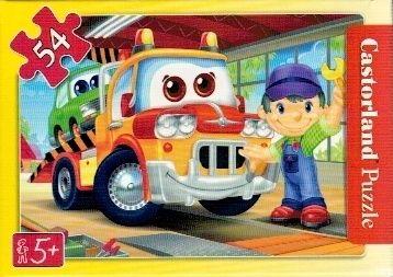 puzzle Castorland 54 dílků mini - pracovní vozidla - odtahové auto