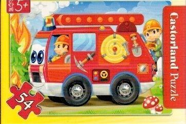puzzle Castorland 54 dílků mini - pracovní vozidla - hasičské auto