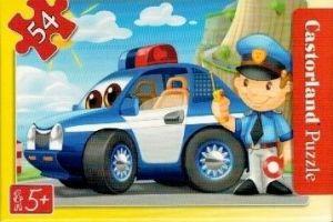 puzzle Castorland 54 dílků mini - pracovní vozidla - policejní  auto