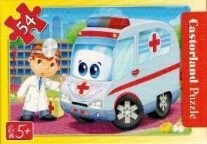 puzzle Castorland 54 dílků mini - pracovní vozidla - sanitka