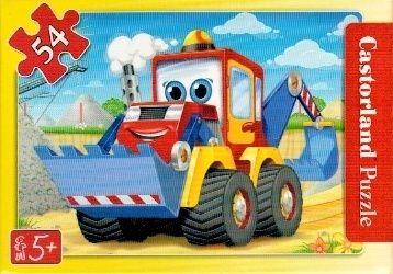puzzle Castorland 54 dílků mini - pracovní vozidla - traktor-bagr