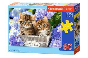 Puzzle Castorland 60 dílků - Koťátka   - 066087
