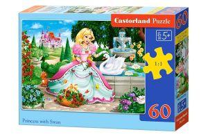 Puzzle Castorland 60 dílků - Princezna a bílá  labuť  - 066056