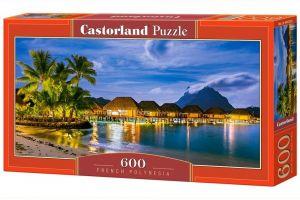 Puzzle Castorland 600 dílků panorama  - Francouzská Polynesie   060320
