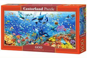 Puzzle Castorland 600 dílků panorama  - Podvodní svět  060375
