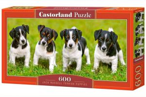 Puzzle Castorland 600 dílků panorama  - Štěňata Jack Russel teriéra  060382
