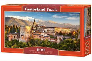 Puzzle Castorland 600 dílků panorama  - Výhled na Alhambru  060344