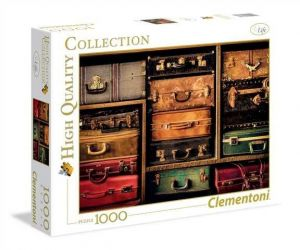 Puzzle Clementoni 1000 dílků - Cestovní kufry  39423