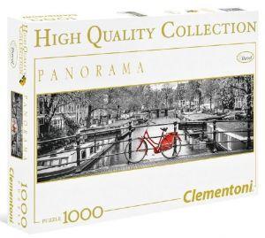 Puzzle Clementoni 1000 dílků  panorama - Kola v Amsterodamu   39440