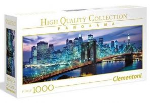 Puzzle Clementoni 1000 dílků  panorama - New York - Brooklyn   39434