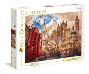 Puzzle Clementoni 1500 dílků  - Londýn - koláž  31807