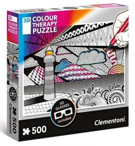 puzzle Clementoni 500 dílků  Colour Therapy -  Maják + 3D brýle  35052