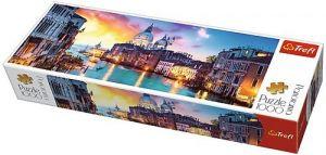 Puzzle TREFL  1000 dílků - panorama - Kanál Grande Benátky  29037