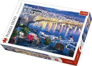 Puzzle Trefl 1500 dílků - Mykonos za soumraku Řecko   26144
