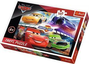 Puzzle Trefl 160 dílků - CARS 3 - Auta 3 - vítězný závod 15356