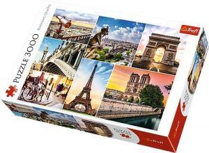 Puzzle TREFL 3000 dílků - Kouzlo  Paříže - koláž  33065