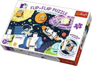 puzzle Trefl 36 dílků  Flip Flap s okénky - Vesmír  14272
