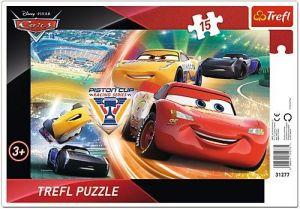 Puzzle Trefl v rámečku ( rámkové ) - CARS -  Boj o vítězství  31277